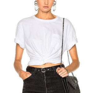 wang twist crop T